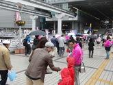 義援金活動(JR小倉駅前)