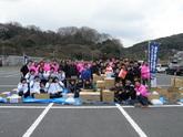 3/25 支援物資受入(総合体育館)